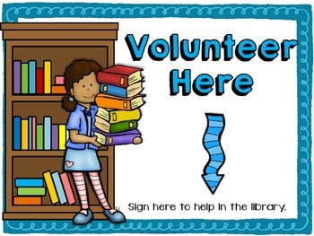 Library Volunteer Sign-Up FREE