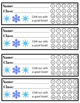Library Winter Theme Punch Cards