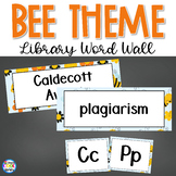 Library Word Wall - Bee Theme