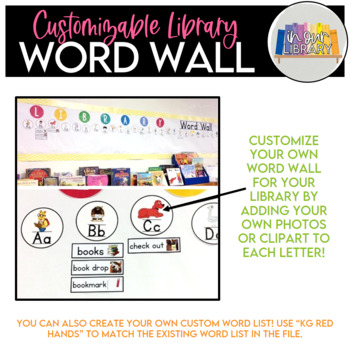 Library Word Wall {EDITABLE!}