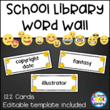 Library Word Wall - Emoji White Background