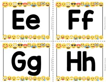 Library Word Wall - Emoji White Background