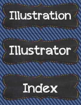 Library Word Wall - Retro Brights (Editable Versions Included)