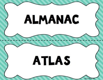 Library Word Wall (Solid Chevron)