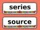 Library Word Wall and Genre Posters (EDITABLE)