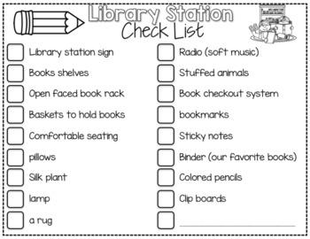 Library Work Station {Teacher's Companion}