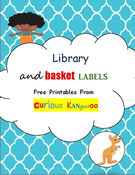 Library and Basket labels printables