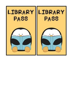 Library and Bathroom Passes
