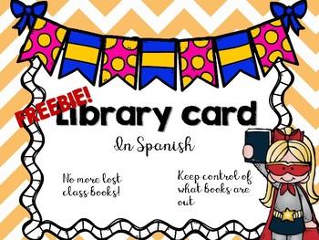 Library card / Tarjeta para la biblioteca
