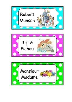 Library character polka dot label