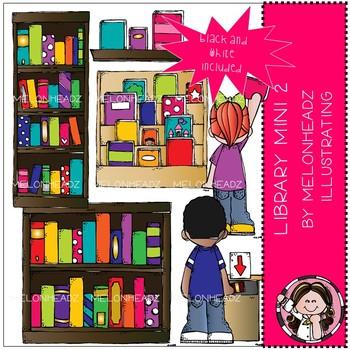 Library clip art - Set 2 - Mini - Melonheadz Clipart