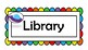 Library labels for classroom. Space theme organizer