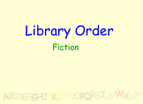 Library lesson - Alphabetical Order