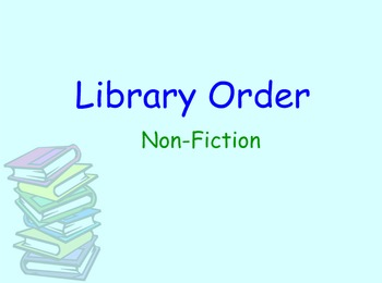 Library lesson - Dewey Decimal System