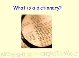 Library lesson - Dictionary