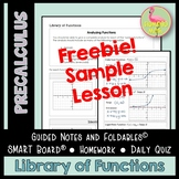 Library of Functions FREEBIE Sample Lesson