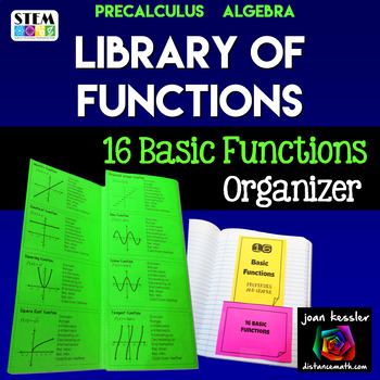 Parent Functions Reference Tri-Fold Organizer