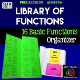 Parent Functions Reference Tri-Fold Organizer  | Distance Learning