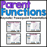 Library of Parent Functions Keynote/Powerpoint Presentation