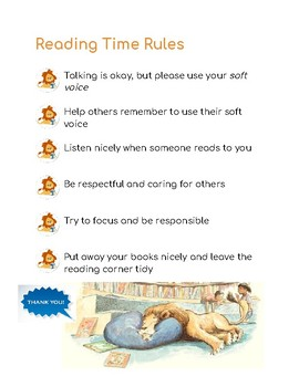 Library/reading time rules