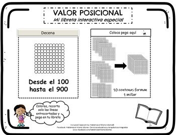 Libreta Interactiva Valor Posicional_ Place Value Interactive Notebook