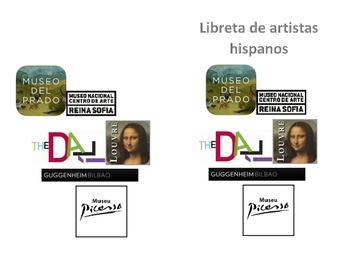 Libreta de artistas hispanos