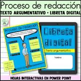 Libreta digital   Proceso de escritura   Texto argumentativo   Digital templates