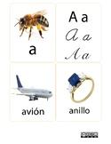 Libretas de Tarjetas con el Sonido Inicial del Alfabeto en español