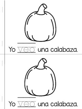 Librito de Halloween - Veo/ Spanish HFW Halloween Book