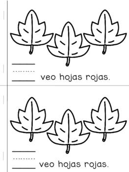 Librito de Otoño - Palabras de Alta Frequencia Yo / FALL HFW SPANISH