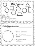 Librito de figuras planas 2D/ Booklet for 2D plane shapes Spanish