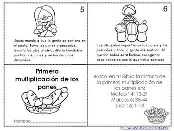 Librito de la primera multiplicación de panes-Feeding the Five Thousand Spanish