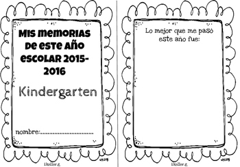 Librito de memorias! Memories book END OF THE YEAR! kindergarten