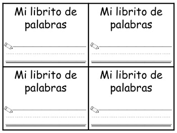 Librito de palabras frecuentes para usar con estampillas