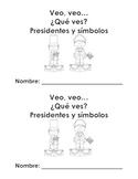 Librito de presidentes y simbolos - Presidents mini book in Spanish