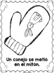 Librito de recuento: El mitón (The Mitten-Spanish)