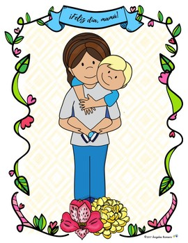 Librito para colorear - Día de las madres - Spanish Resource