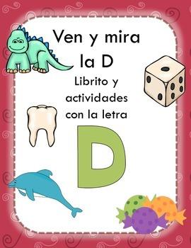 Librito y actividades con la letra D