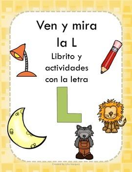 Librito y actividades con la letra L