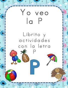 Librito y actividades con la letra P