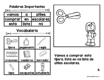 Libritos La escuela (Easy Reader Books Spanish School)