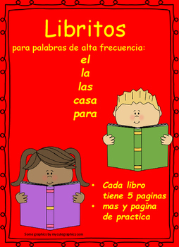 Libritos de Palabras de Alta Frecuencia set 4 High frequency Word Books