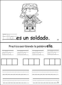 Libritos de Palabras de Alta Frecuencia set 6 High frequency Word Books
