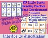 Libritos de dinosílabas - Spanish syllable little books