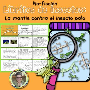 Libritos de insectos NO-FICCIÓN La mantis religiosa contra el insecto palo