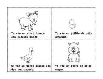 Libritos de los animales de la granja–Spanish Farm Animals Mini Books