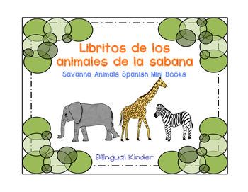 Libritos de los animales de la sabana–Spanish Savanna Animals Mini Books
