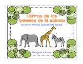 Libritos de los animales de la sabana–Spanish Savanna Anim
