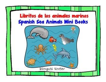 Libritos de los animales marinos-Spanish Sea Animals Mini Books