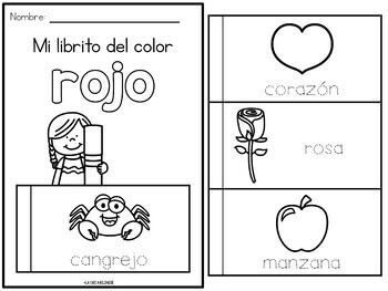 Libritos de los colores / Colors Flip Books